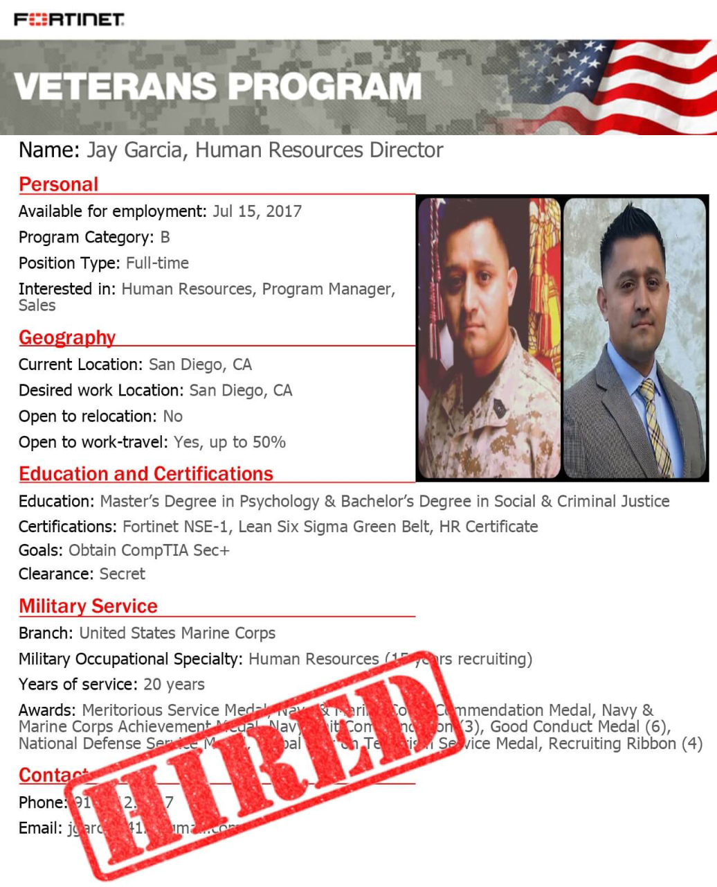how the fortinet veterans program is helping to bridge the