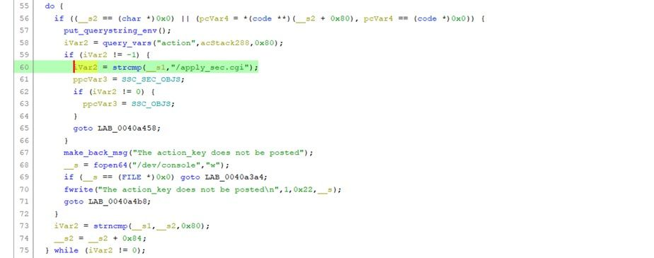 Another code snippet of do_ssc