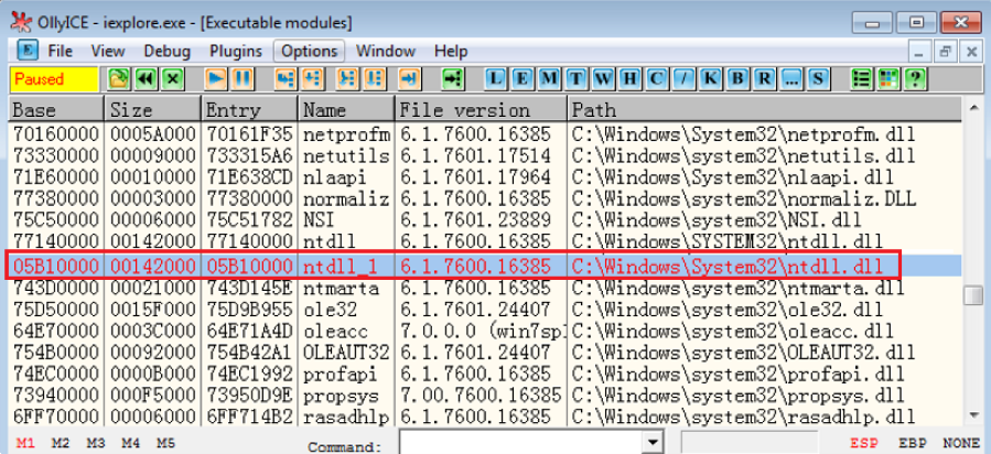 Figure 1.1 – FormBook being disguised as an ntdll module