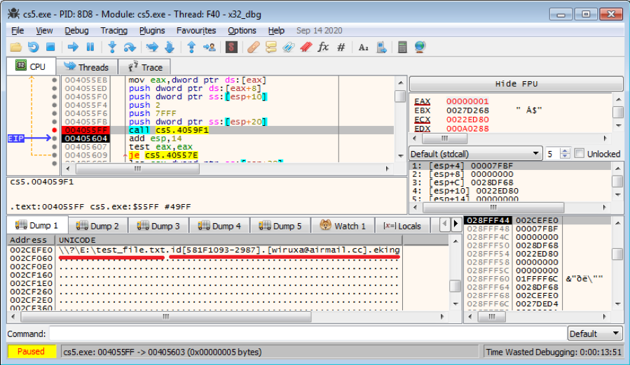 Figure 5.3 Encrypted file with new extension