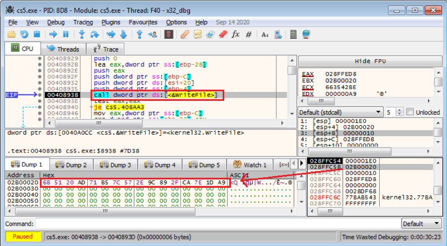 Figure 5.5 Saving ciphertext into an encrypted file