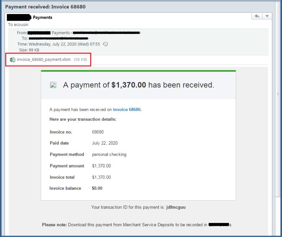 Figura 1.1. Contenido de correo electrónico de phishing