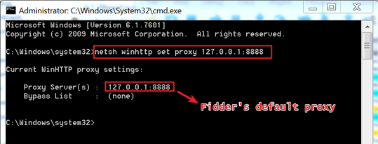 Figure 7. Set WinHTTP's Proxy