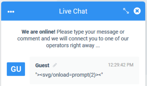 Chat Payload from Guest