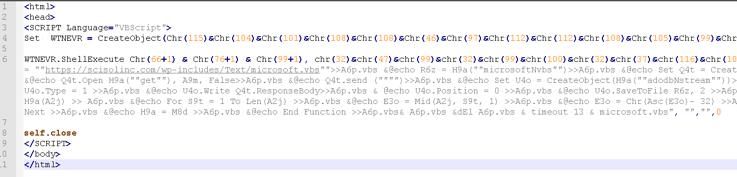 Figure 1 â VBScript Code