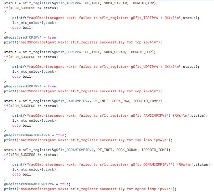 A network protocol analyzer for Mac OS X