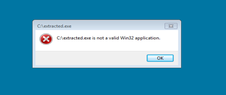 Figure 9. Warning message when running the extracted .Net App