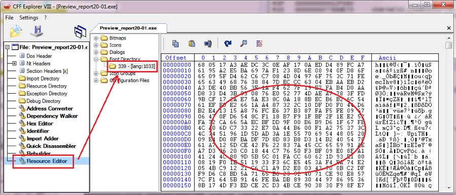 Figure 2.2. Encrypted Resource 339 of Bazar loader