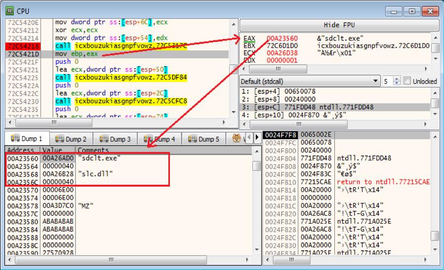 Figure 7.2 – Chosen Windows program and dll