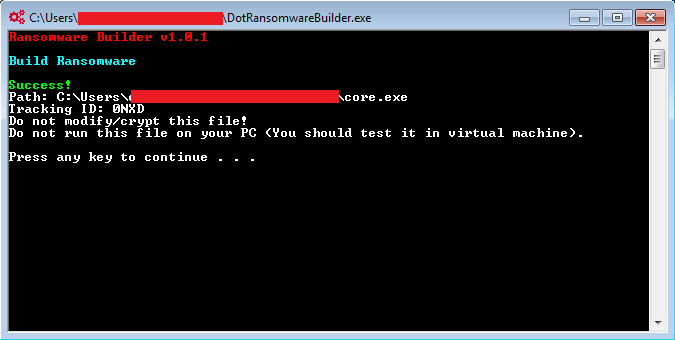 Figure 08 Build Ransomware