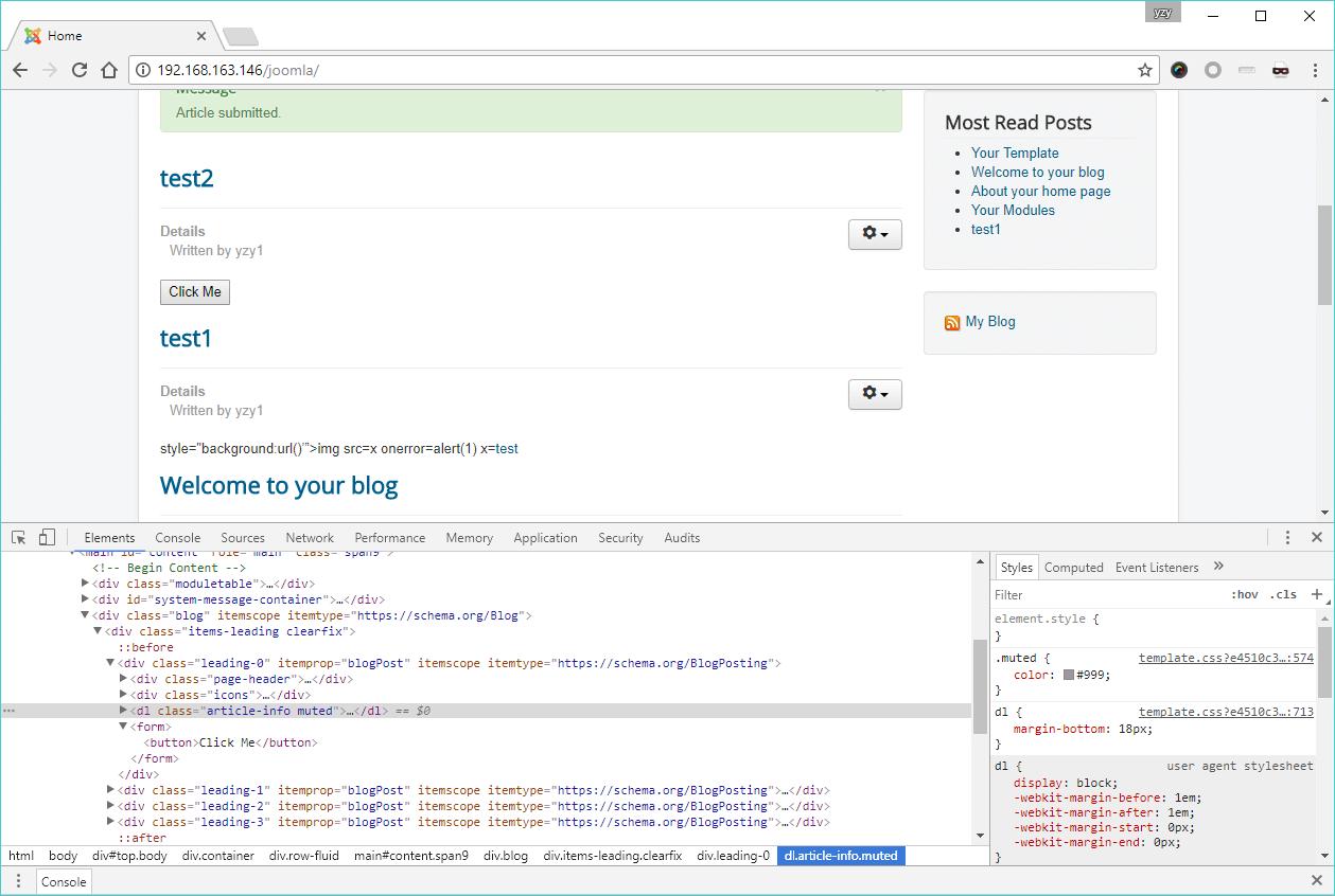 Incomplete Patch: More Joomla! Core XSS Vulnerabilities Are Found
