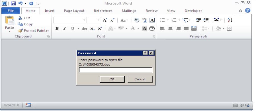 Information-stealing Malware Is Spread Via Word Document