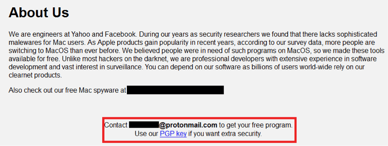 MacRansom: Offered as Ransomware as a Service