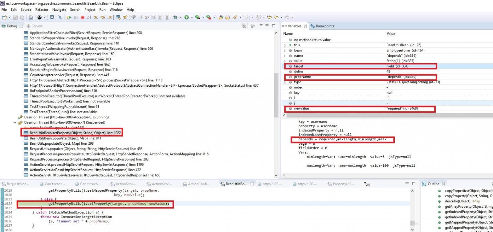 The Analysis of Apache Struts 1 ActionServlet Validator