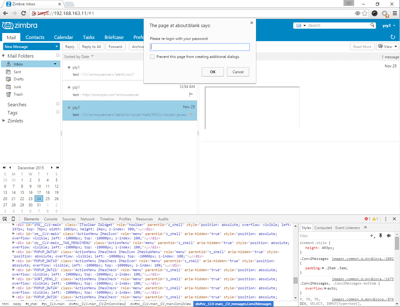 Zimbra Collaboration XSS Vulnerability: Be Careful If You're