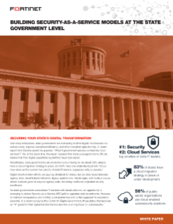 Building Security-As-A-Service Models At The State Government Level