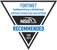 Fortinet NSS Labs Recommended for SD-WAN