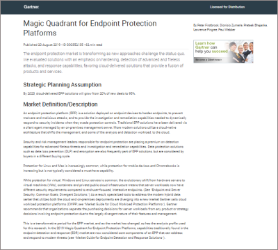 gartner magic quadrant epp 2019
